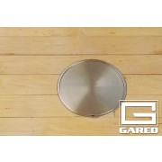 """8"""" Outside, 6 5/8"""" Inside Diameter Cover Plate with Lock, Chrome"""