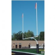 "College RedZone™ Football Goalposts, 4-1/2"" O.D., White, Plate-Mount"