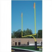 "College RedZone™ Football Goalposts, 4-1/2"" O.D., Yellow, Plate-Mount"