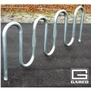 """9' 3"""" Loop-Style Bike Rack, 11 Bikes, Powder Coated"""